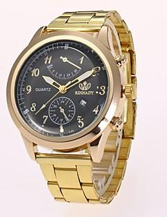 Pánské Hodinky k šatům Módní hodinky Náramkové hodinky čínština Křemenný imitace Diamond Slitina Kapela Běžné nošení Elegantní Zlatá