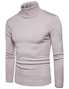 tanie Męskie swetry i swetry rozpinane-Męskie Rozmiar plus Golf Pulower Jendolity kolor