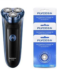 flyco fs362 elektriske barbermaskin razor tre hoder 220v ladeindikator