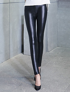 Dame Solid PU Tights