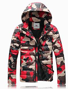 מעיל פוך מעיל גברים,קולור בלוק להסוות סגנון רחוב ליציאה אחרים פוליפרופילן-שרוול ארוך