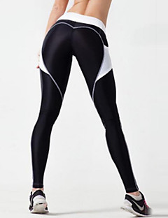 Dames Kleurenblok Medium Kanten stiksel Sportief,Legging