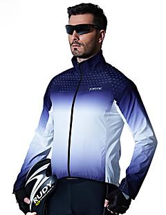 billige Sykkelklær-SANTIC Herre Sykkeljakke Sykkel Topper Vindtett Geometrisk Blå Sykkelklær