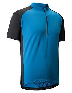 Sykkeljersey Herre Kortermet Sykkel T-Trøye Skjorte Genser Jersey Reflekterende Stripe Anti-Skli Fort Tørring Pusteevne Stretch