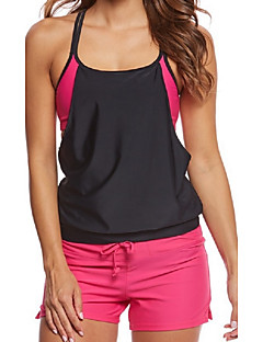 Naisten Tankini Colorblock Bandeau Color Block