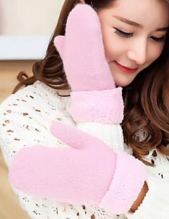 レディース 秋 冬 アクセサリー カジュアル カトゥーン 冬物手袋 保温 ニット かわいい ファッション ウール ラビット 純色 手首丈 指先