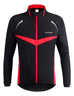 WOSAWE Jaqueta para Ciclismo Moto Jaqueta Jaqueta de Inverno Blusas Unisexo Lista Reflectora A Prova de Vento Poliéster Clássico Ciclismo