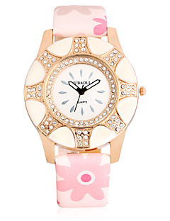 Χαμηλού Κόστους Brand Watches-JUBAOLI Γυναικεία Ρολόι Καρπού Μοδάτο Ρολόι Κινέζικα Χαλαζίας Μεγάλο καντράν Δέρμα Μπάντα Καθημερινό Απίθανο Ροζ Μπεζ Ναυτικό