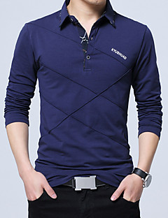 お買い得  メンズポロシャツ-男性用 ワーク Polo 活発的 シャツカラー スリム ソリッド コットン