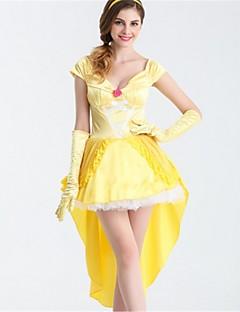 Prinsesse Zombie Cosplay Kostumer Halloween Festival / høytid Halloween-kostymer Gul Mote
