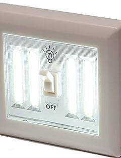 tanie Światła prezentów-1 szt. Noc LED Light White Bateria Czujnik podczerwieni