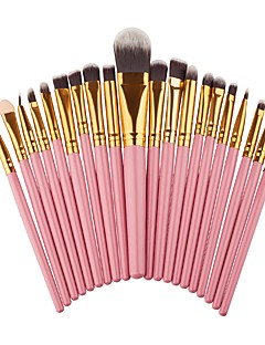 20 piese Seturi perie Perie Blush Perie  Fard Perie pentru sprâncene Pensule Tuș Geană Brush Perie evantai Perie Pudră Perie Fond Perie