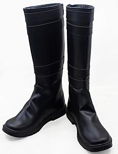 נעלי קוספליי מגפי קוספליי קוספליי קוספליי אנימה נעלי קוספליי עור פוליאוריתן עור PU Burgundy יוניסקס