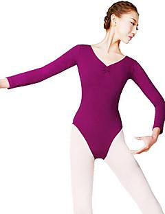 Χαμηλού Κόστους Ρούχα για μπαλέτο-Μπαλέτο Γυναικεία Επίδοση Νάιλον Μακρυμάνικο Φυσικό Φορμάκι / Ολόσωμη φόρμα