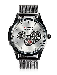Χαμηλού Κόστους Brand Watches-JUBAOLI Ανδρικά Χαλαζίας Ρολόι Καρπού Κινέζικα Ημερολόγιο Μεγάλο καντράν Ανοξείδωτο Ατσάλι κράμα Μπάντα Μοντέρνα Απίθανο Μαύρο