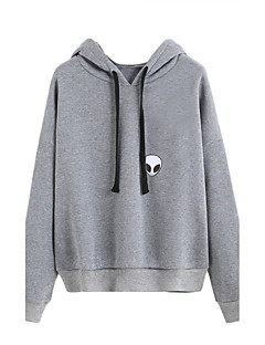 Men's Sports Casual/Daily Hoodie Solid Hooded Inelastic Cotton Long Sleeve Spring Fall Winter