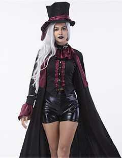 billige Halloweenkostymer-ringmaster Cosplay Kostumer Voksne Halloween Festival / høytid Halloween-kostymer Mote Vintage