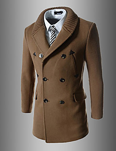 Men's Going out Casual/Daily Casual Active Street chic Fall Winter Trench Coat
