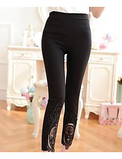 Women's Medium Solid Color Lace Legging,Solid