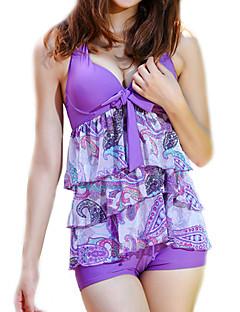 Dame Bikinikjole Fargeblokk Grime Fargeblokk