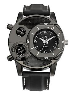 Herrn Sportuhr Modeuhr Armbanduhren für den Alltag Chinesisch Quartz Leder Echtes Leder Band Schwarz
