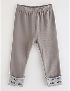 billige Bukser og leggings til piger-Pige Bukser Tegneserie, Bomuld Efterår Grå
