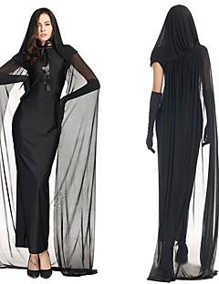 Spøkelse Badedrakt/Kjoler Kvinnelig Halloween De dødes dag Festival/høytid Halloween-kostymer Svart Helfarge