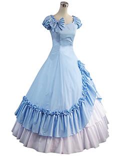 שמלותחתיכה אחת לוליטה גותי לוליטה Cosplay שמלות לוליטה כחול וינטאג' משורר (מתרחב בסוף) שרוולים קצרים שמלה ל Other