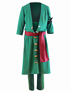 Inspired by One Piece Roronoa Zoro Anime Cosplay Costumes Cosplay Suits Solid Coat Pants For Male