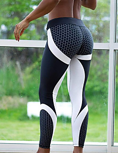 Women's Sporty Color Block Medium Print Legging,Print,Sporty