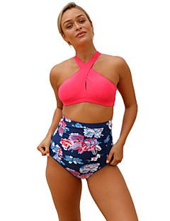 Dame Bikinikjole Blomstret Trykt mønster