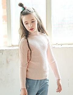 Mädchen Bluse Solide Wolle Winter Herbst Langärmelige Weiß Schwarz Rosa