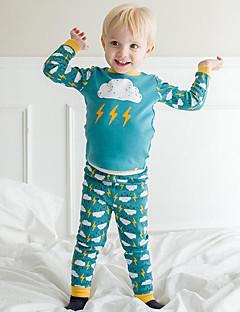 Jungen Schlafanzüge Baumwolle-Herbst-Lange Ärmel