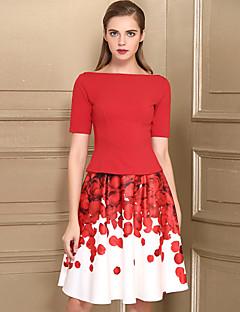 Χαμηλού Κόστους BAOYAN-Γυναικεία Καθημερινό T-shirt - Φλοράλ Φούστα