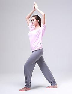 billiga Träning-, jogging- och yogakläder-CONNY Dam Yogakläder - Rosa sporter Klädesset Halvlång ärm Sportkläder Lättvikt, Mateial som andas, Stretch Elastisk