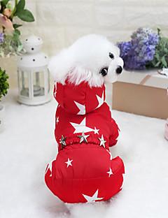billiga Hundkläder-Hund Kappor Hundkläder Geometrisk / Stjärnor Fuchsia / Röd / Blå Terylen / Cotton Kostym För husdjur Unisex Stilig / Unik design / Håller värmen