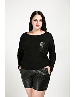 billige Dametopper-Store størrelser T-skjorte Dame - Ensfarget Gatemote