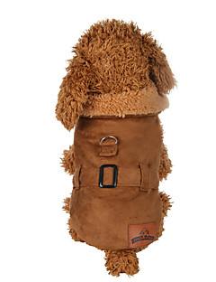 billiga Hundkläder-Hund Kappor Hundkläder Enfärgad Brun Polyester Kostym För husdjur Herr / Dam Ledigt / vardag