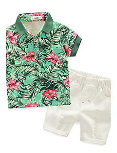 tanie Odzież dla chłopców-Komplet odzieży Bawełna Dla chłopców Lato Krótki rękaw White