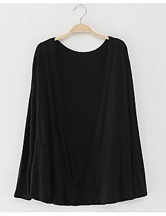 tanie Swetry damskie-Damskie Wyjściowe Rozpinany Jendolity kolor Długi rękaw