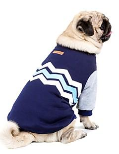 billiga Hundkläder-Hund / HTC One X G23 S720e Tröja Hundkläder Färgblock Mörkblå / Rosa Cotton Kostym För husdjur Ledigt / vardag / Håller värmen / Nyår
