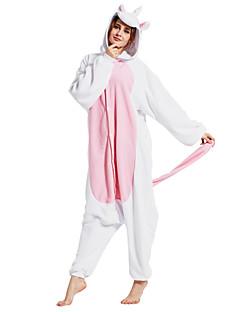 Kigurumi Pijama Unicorn Tulum Pijamalar Kostüm Polar Kumaş Pembe Cosplay İçin Yetişkin Hayvan Sleepwear Karikatür cadılar bayramı