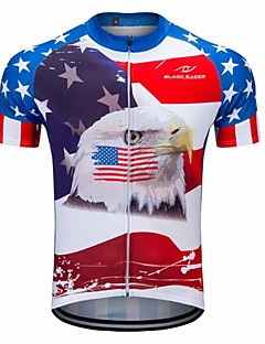 FUALRNY® Cycling Jersey Men's Short Sleeves Bike Jersey Breathability 100% Polyester Summer Mountain Cycling Road Cycling Recreational