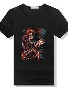 Skjelett/Kranium Bluse/Skjorte Mann Halloween De dødes dag Festival/høytid Halloween-kostymer Svart Hvit Rød Helfarve