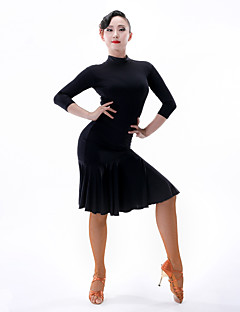 Latinské tance Dámské Taneční vystoupení Čínský nylon Krajka 3 / 4 rukávy Šaty