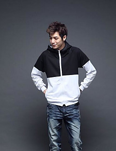 Men's Going out Hoodie Color Block Hooded Micro-elastic Cotton Long Sleeve Fall