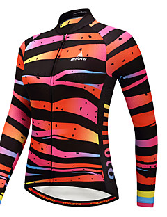 Miloto Cycling Jersey Women's Long Sleeves Bike Jersey Stretchy Autumn/Fall Winter Cycling Camouflage