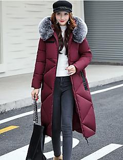 Damen Gefüttert Mantel Einfach Lässig/Alltäglich Solide-Baumwolle Polypropylen Langarm
