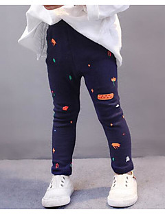 Girls' Print Pants,Others Spring Fall Navy Blue Gray