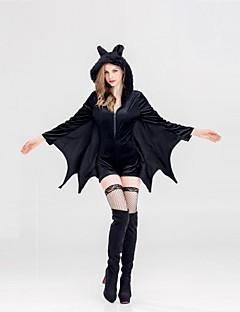 billige Voksenkostymer-Vampyrer Kjoler Dame Jul Halloween Karneval Festival / høytid Halloween-kostymer Svart Hul